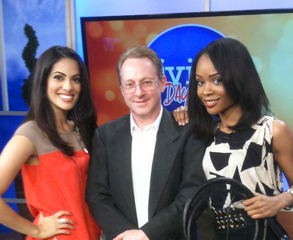 (From Left) Nathalie Basha, Gery L. Deer and Zuri Hall on the set of Living Dayton.