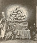 1836 sketch of a Christmas tree in America