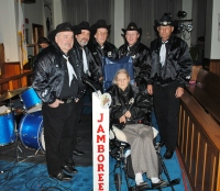 The Brothers & Co. with Gary Deer Sr. and their late mother Lois Deer at the Wheeling Jamboree Radio Show, 2010